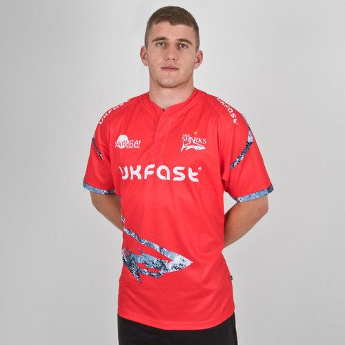 Sales Sharks 2018/19 Alternativa Camiseta Replica de Rugby