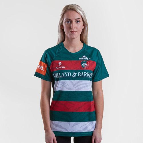 Liecester Tigers 2018/19 Home Replica Camiseta de Rugby para Dama