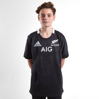 Nueva Zelanda All Blacks 2018/19 Home Camiseta de Rugby Adolescentes