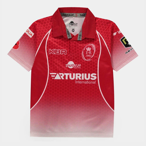 Army Rugby Union 2019 Kids Home S/S Rugby Shirt