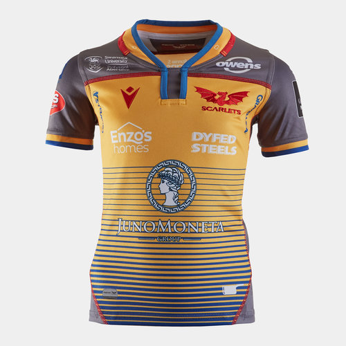 Scarlets 2019/20 Kids Alternate S/S Replica Rugby Shirt