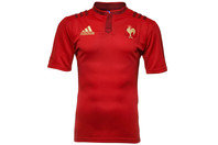 adidas Francia 2015/16 Alternativa M/C Réplica - Camiseta de Rugby