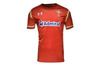 Under Armour Gales WRU 2016/17 Primera Equipación Niños M/C - Camiseta de Rugby