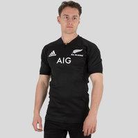 adidas Nueva Zelanda All Blacks 2017 Home M/C Test - Camiseta de Rugby